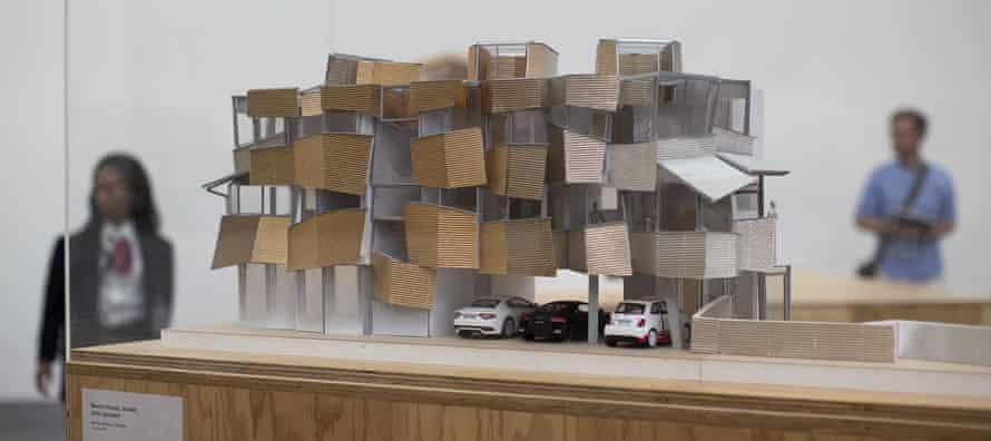 A scale model of a beach house.