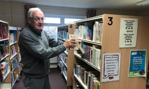 'If everyone who turned up to the meeting to save the library actually used it, I might be a bit happier' … Simon Dickerson at Wilsden library.