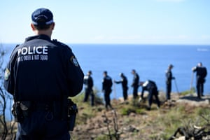 Police undertake a search at North Head near Manly
