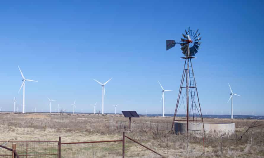 A ranch in Sweetwater, Texas, which has embraced clean energy.