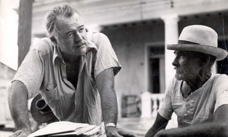 Ernest Hemingway in Cuba, where he lived for 30 years.