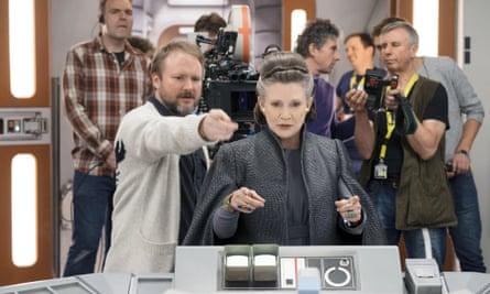 Rian clad ... on the set of Star Wars: The Last Jedi.