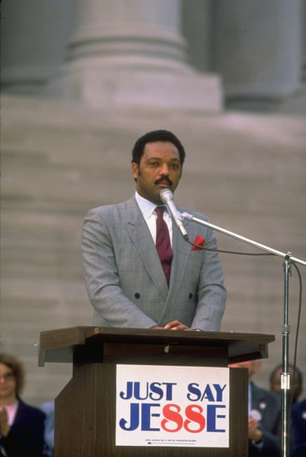 Jesse Jackson in 1988 in the battle for the Democratic presidential nomination.