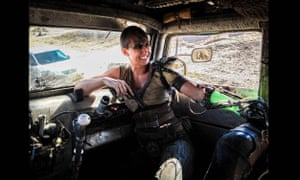 Stunt double Dayna Grant on the set of Mad Max Fury Road.