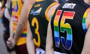AFL pride game guernseys