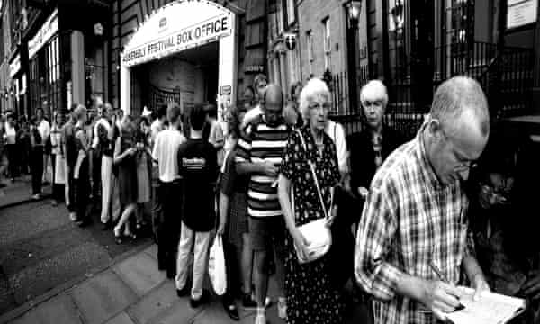 A queue for Shopping and Fucking in 1999. David Johnson said: 'It's a different kind of show for a different kind of audience. They'll come.'