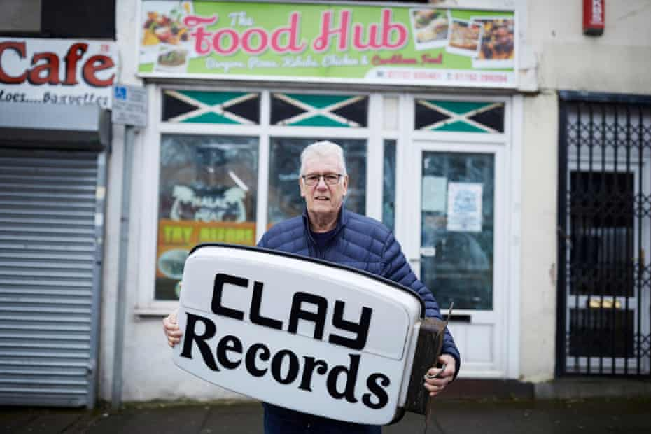Mike Stone, who ran Clay Records in Hanley, Stoke-on-Trent, outside his former shop in the city centre.