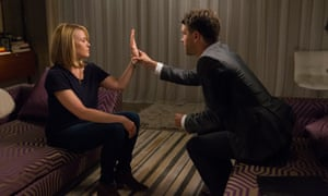 Chelsea Handler with hypnotist Brice Le Roux for her new talk show streaming on Netflix.