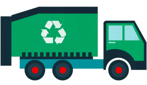 Recycling truck.