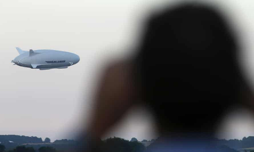 The Airlander 10 makes its maiden flight at Cardington airfield, Bedfordshire.