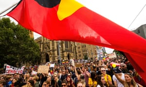 Protests against Australia Day in Melbourne