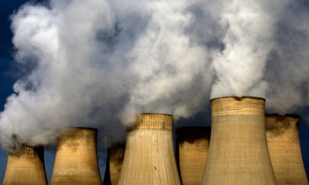 Ratcliffe-on-Soar power station, Nottinghamshire, England: UK's coal use has fallen by 74% in a decade.