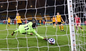 Diogo Jota fires the winning goal for the Reds.
