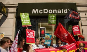 Living wage protest hits McDonald's in London