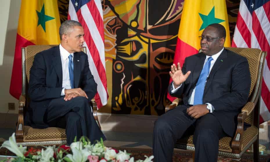 US president Barack Obama and Senegalese president Macky Sall in Dakar in 2013.