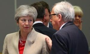 Juncker and May