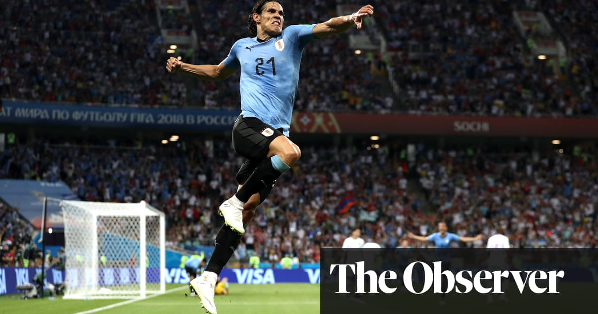 d9d9efd4b75 Edinson Cavani sends Uruguay to World Cup last eight as Portugal bow out |  Football | The Guardian