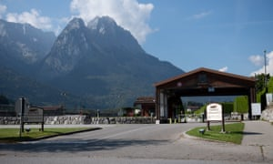 The US army Edelweiss lodge and resort in Garmisch-Partenkirchen, Germany, where the woman works. Photograph: Philipp Guelland/EPA