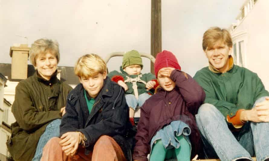 The Hay family: (from left) Susan, Neil, Adam, Holly and Alistair Hay in Brighton.