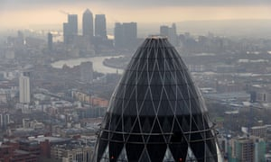 Gherkin and view of City of London