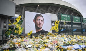 Tributes to Emiliano Sala at the Beaujoire stadium in Nantes, France
