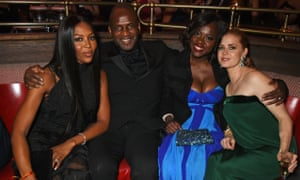 Naomi Campbell, Julius Tennon, best supporting actress winner Viola Davis and Amy Adams.