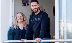 Housemates Karen Howells and Raja Al Majzoub – she's a university lecturer, he's a student.