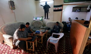 Activists at Radio Fresh in the rural town of Kafranbel