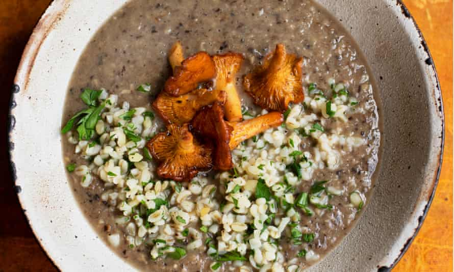 'Deep and earthy' mushroom soup.
