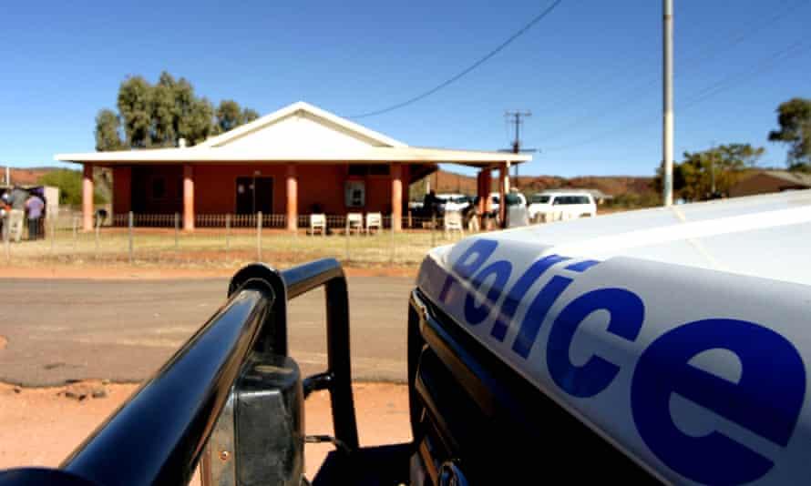 police van on NT road