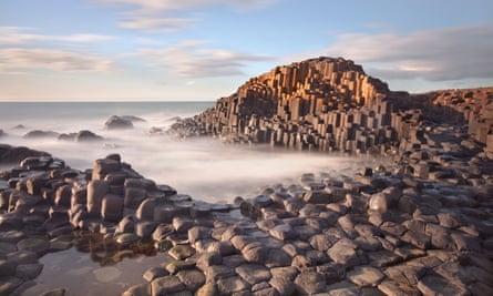 The Giant's Causeway on the Northern Ireland coast.