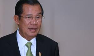 Cambodian prime minister Hun Sen in Phnom Penh.