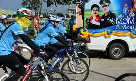 Riders across Thailand take to their bikes to celebrate the 83rd birthday of Queen Sirikit.