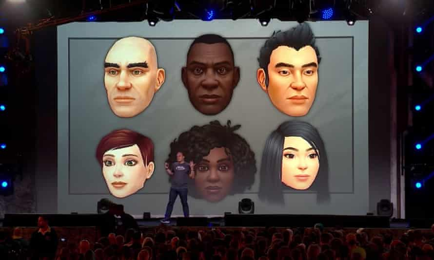 Ion Hazzikostas on stage at BlizzCon 2019, introducing the newly released diverse character customisation options.