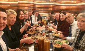 The Independent Group eating at Nando's.