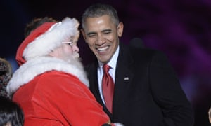 Santa is relaying the message to Barack Obama.