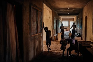 Children in a corridor