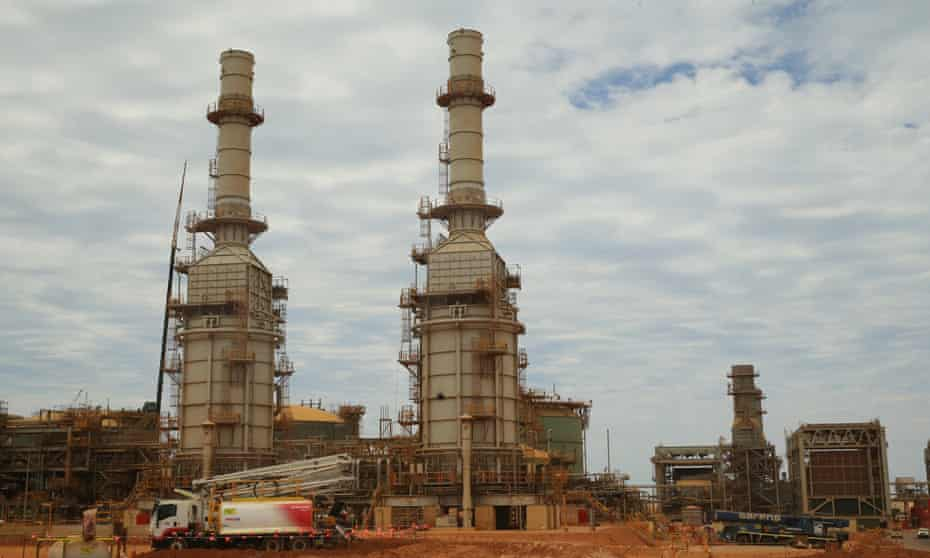 Part of the Gorgon LNG project in Western Australia
