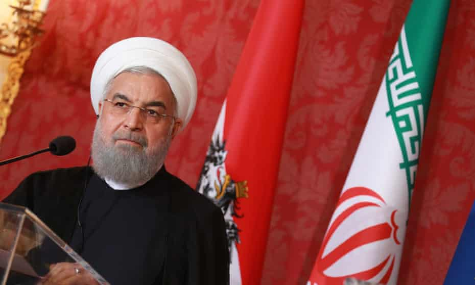 The president of Iran, Hassan Rouhani, in Austria this week.
