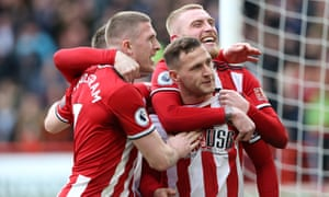 Billy Sharp celebrates after scoring the only goal for Sheffield United against Norwich.