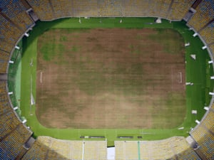 The pitch of the world-famous Maracana Stadium