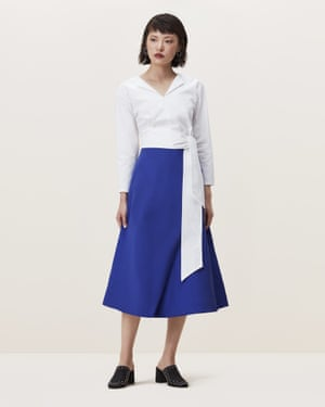Finery Belshaw fold A-line skirt, £75