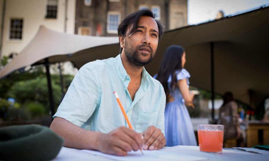 Rhik Samadder during his mindful art class.