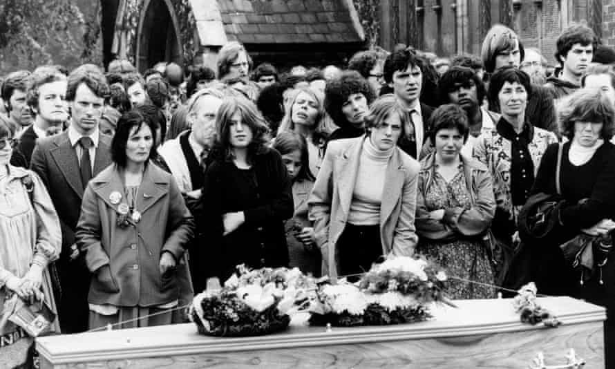 The funeral of Blair Peach in 1979.