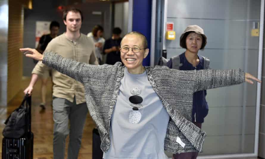 Liu Xia, the widow of Chinese Nobel peace prize-winning political dissident Liu Xiaobo, arrives in Europe.
