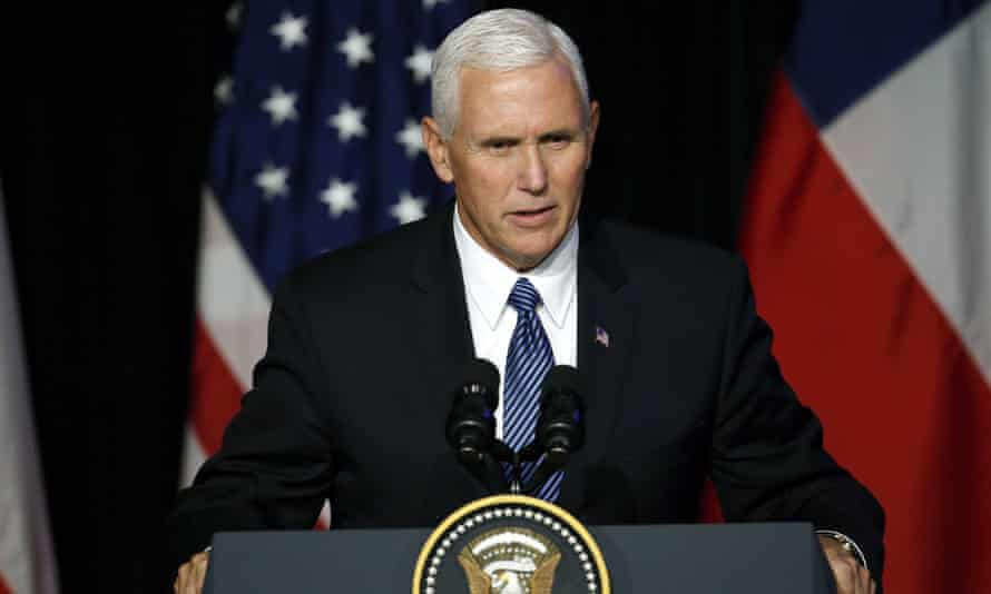 Vice-president Mike Pence, on a tour of Central and South America, stood by the president and compared him to Teddy Roosevelt.