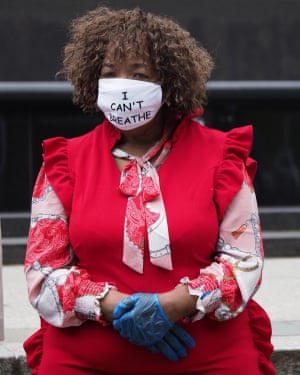 Gwen Carr, the mother of Eric Garner, at a Black Lives Matter protest, in New York this week.