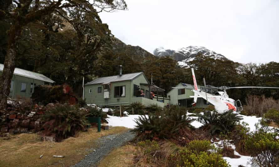 Lake McKenzie hut on the Routeburn track where Pizova took shelter.