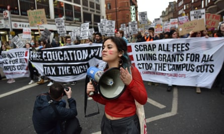 Students protest in London
