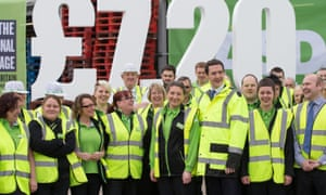 George Osborne publicises the national living wage at a branch of Asda